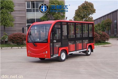 鴻暢達專屬定制全封閉顏色多樣11座電動觀光車