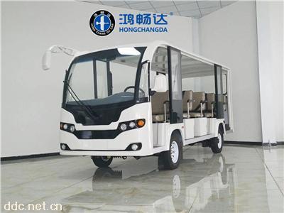 鸿畅达18座敞开式白色电动观光车