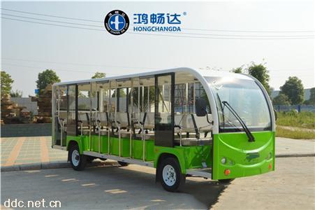 鸿畅达18座多种颜色电动观光车支持定制