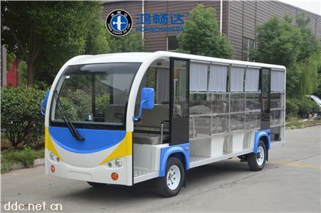 18座带雨帘敞开式电动观光车