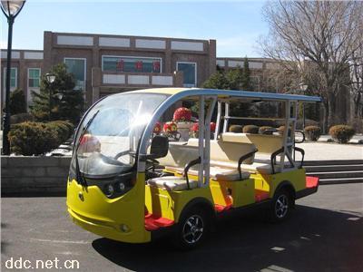 明菱S8+3观光车电动高尔夫观光车