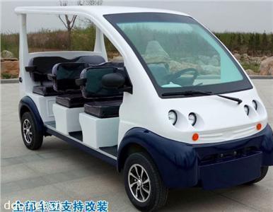 白色8座電動巡邏車可改裝