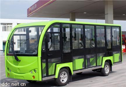 绿能达14座电动封闭观光车
