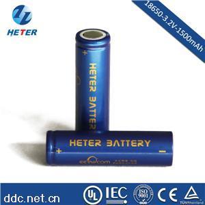 磷酸铁锂圆柱电池18650-1500mAh