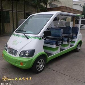 沃森白绿色8座景区电动观光车系列