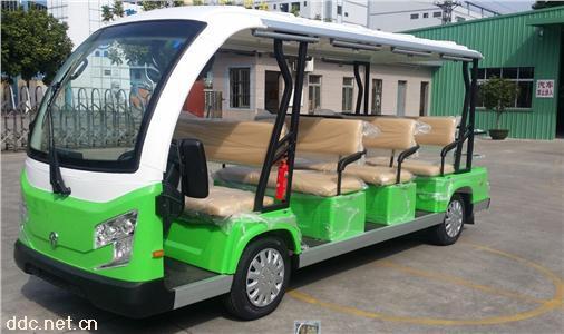 沃森绿色12座电动观光游览车景区用
