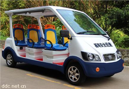公交座椅6/8座电动保安物业巡逻车