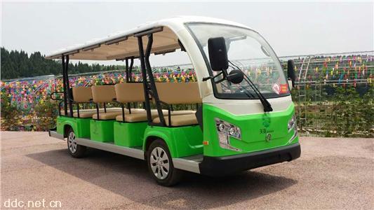 油电混合15座电动观光车
