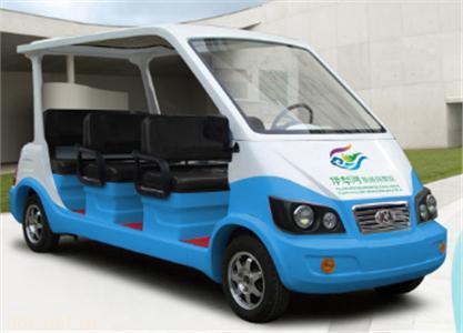 蓝白色6/8座电动保安物业巡逻车