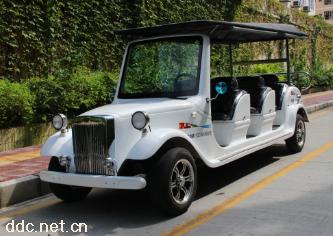 珍珠白色11座电动豪华国宾看楼接待车