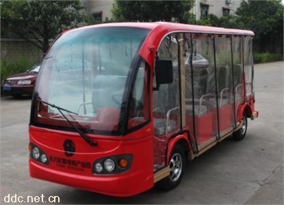 沃森11座带透明雨帘景区电动观光车