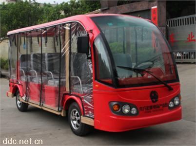 沃森-带透明雨帘红色11座电动观光车