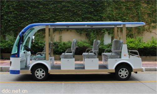 沃森蓝白色11座景区电动观光车系列