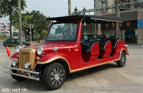 红色款8座电动国宾豪华老爷车