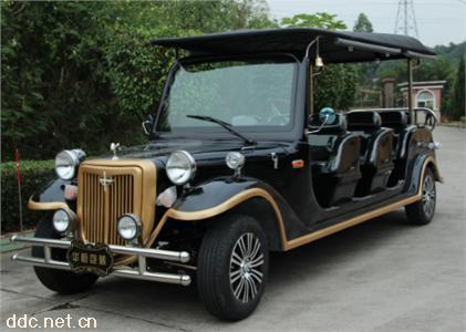 沃森黑色软顶11座电动国宾豪华老爷车
