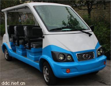 沃森蓝白色三排电动观光游览车