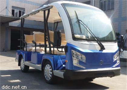 沃森高配置蓝白色8/9座电动观光车