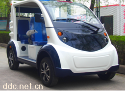 沃森蓝白色2排5座电动物业保安巡逻车
