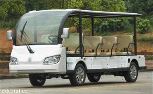 沃森白色交流电机11座电动观光车