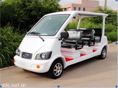 经典款8座电动观光车楼盘专用免维电池直销