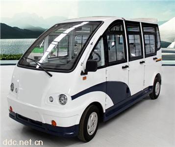 8座电动封闭式巡逻车免维电池带空调