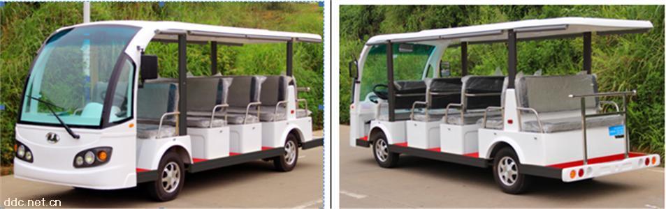 十四座电动观光车看楼车免维护电池