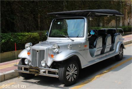 銀灰色11座電動豪華國賓看樓接待老爺車
