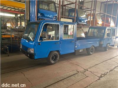 雙排5座電動平板車電動搬運車