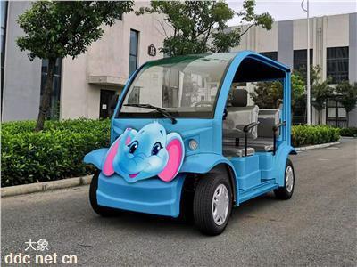 利凯4座卡通敞开式电瓶观光车、景区游览观光车