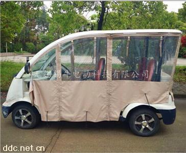 电动观光车看房车透明雨帘定制
