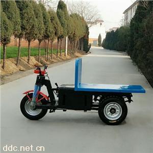 電動平板拉磚車工地拉磚車馬力強勁持久耐用建筑工程專用