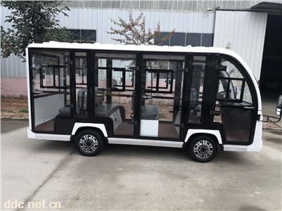 11座景区观光电动车带门报价