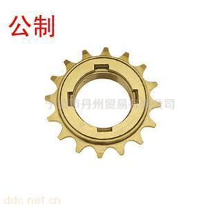 自行车单速16牙四缺口快卸式单速飞轮16T螺纹电动车飞轮