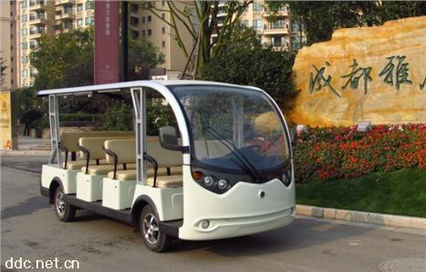 明菱17人旅游观光车电动观光车