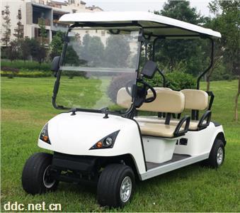 LEM-C4四人白色休闲电动高尔夫球车