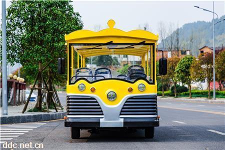 景区14人座特色电动观光车 观光电瓶车 旅游观光车