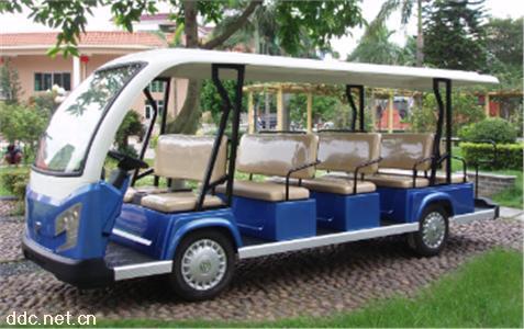 沃森蓝色12座电动游览车景区接待
