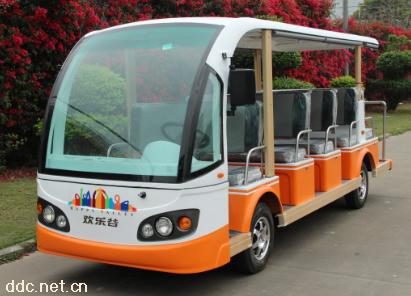 黄白色景区拉客14座电动观光游览车系列