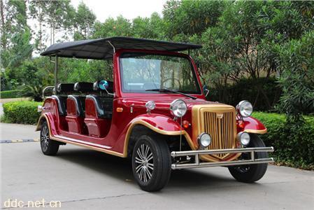 浪漫红色8座电动看楼接待观光老爷车