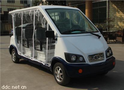 带透明雨帘6/8座电动保安物业巡逻车